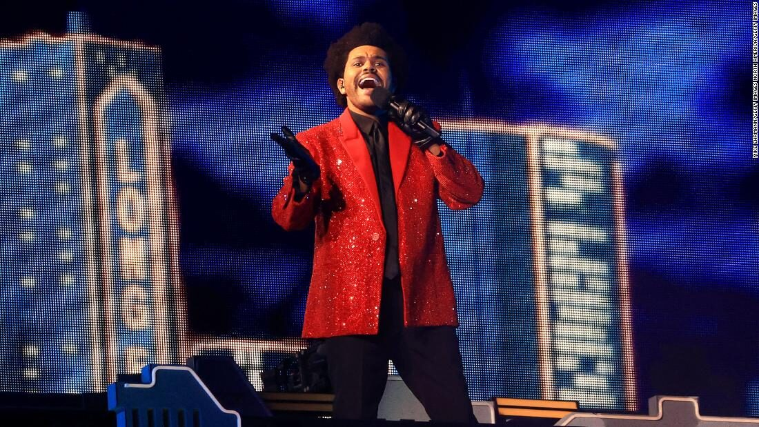 Super Bowl halftime show featured The Weeknd and his bandaged army